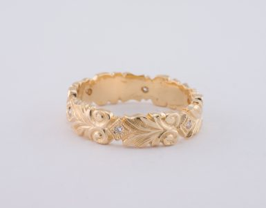 Pre-Owned 14k Celtic Scroll Diamond Band