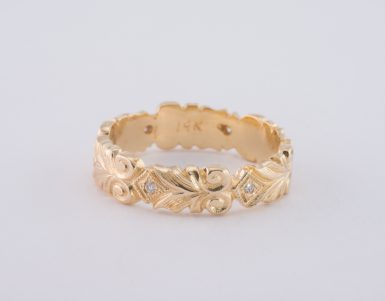 Pre-Owned 14k Scroll Diamond Band