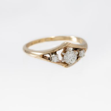Pre-Owned 14K 3-Diamond Ring