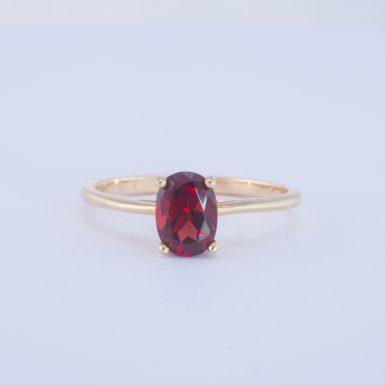 Pre-Owned 14K Classic Garnet Ring
