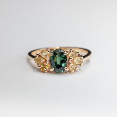 Pre-Owned 14K Tourmaline and Chrysoberl Ring