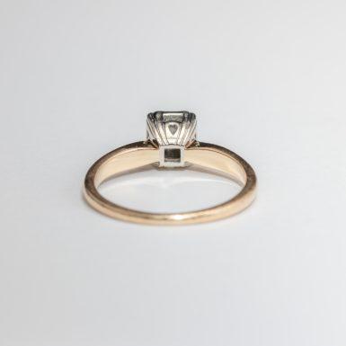 Vintage 14K Diamond Engagement Ring