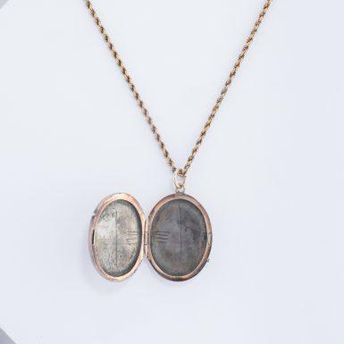 Vintage 14K Pearl Locket on Chain