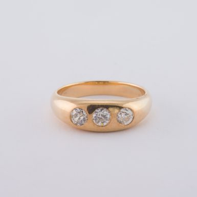 Vintage 14k Old European Cut Diamond Ring
