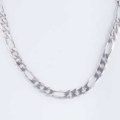 Pre-Owned Sterling Silver Figaro-Link Chain