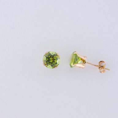 Pre-Owned 14K Peridot Stud Earrings