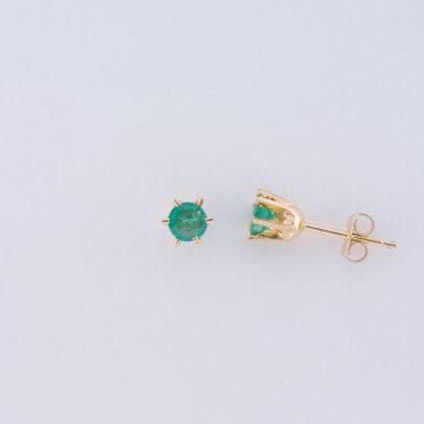 Pre-Owned 14K Emerald Stud Earrings