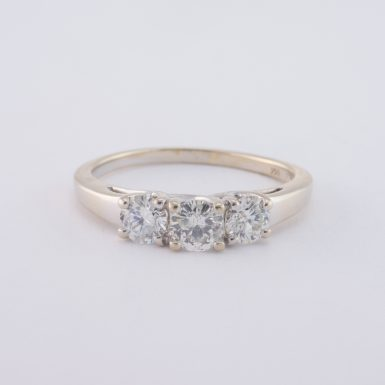 Pre-Owned 14k 3-Diamond Trellis Mount Engagement Ring