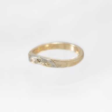 Pre-Owned 14K Fitted Diamond Contour Wedding Band