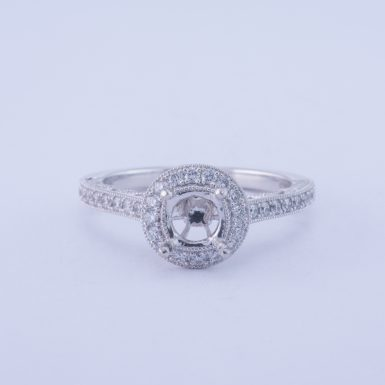 Pre-Owned Platinum VS Diamond Ring Mounting