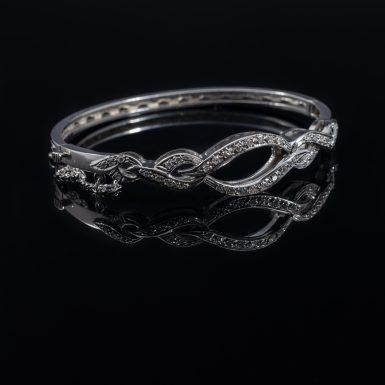 Pre-Owned 14K Diamond Bangle Bracelet