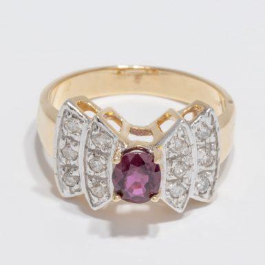Pre-Owned 14K Ruby & Diamond Ring