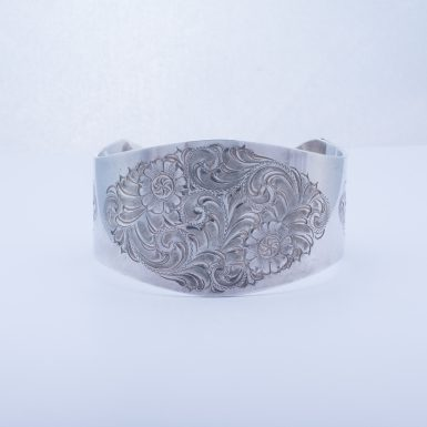 Pre-Owned Sterling Silver Wide Cuff Bracelet