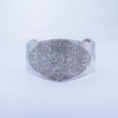 Pre-Owned Sterling Silver Wide Cuff Bracelet