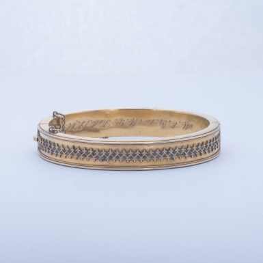 Antique 14k Edwardian Bangle Bracelet
