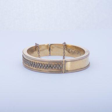 Antique 14k Edwardian Bangle Bracelet