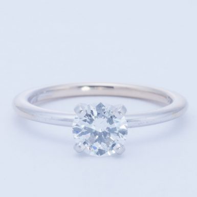 Pre-Owned 18K Lab Grown .80 Carat Diamond Tiffany Style Ring