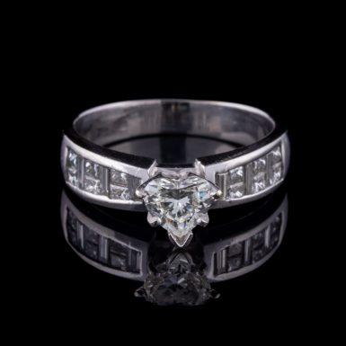 Pre-Owned 14K Heart Diamond Engagement Ring