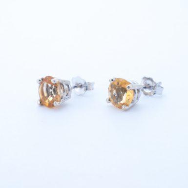 Pre-Owned 14K Classic Citrine Stud Earrings