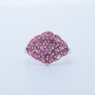 Pre-Owned 14K Pink Tourmaline Cluster Ring