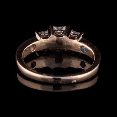 Pre-Owned 14K 3-Diamond Engagement Ring