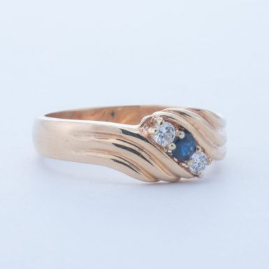 Pre-Owned 14k Sapphire and Diamond Band