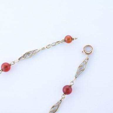 Pre-Owned 14k Carnelian Bead Bracelet