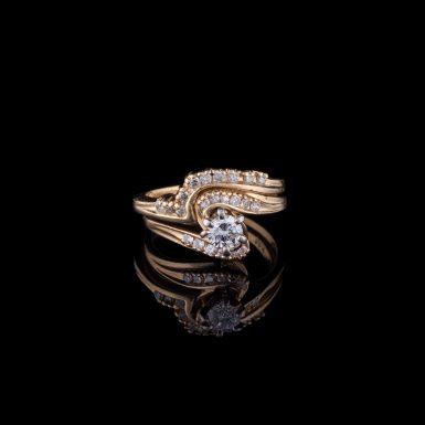 Pre-Owned Diamond Wedding Set By-Pass