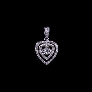 Pre-Owned Double Open Heart Pendant