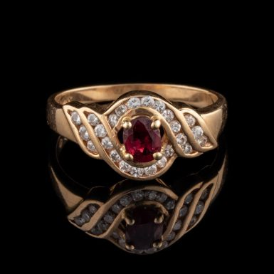 Pre-Owned 14K Ruby and Diamond Ring