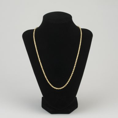 14K Gold Rope Link 20 Inch Chain