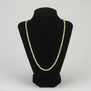 14K Rope Link 22 Inch Chain