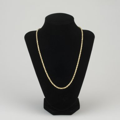 14K Rope Link 20 Inch Chain