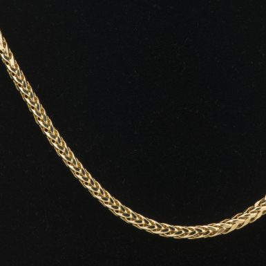 14K Wheat Link 18 Inch Chain