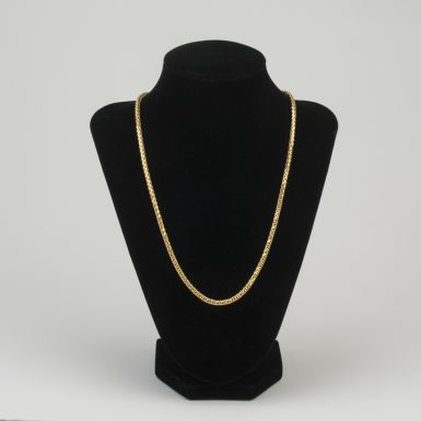 14K Wheat Link 20 Inch Chain