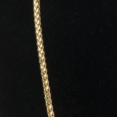 14K Wheat Link 20 Inch Chain