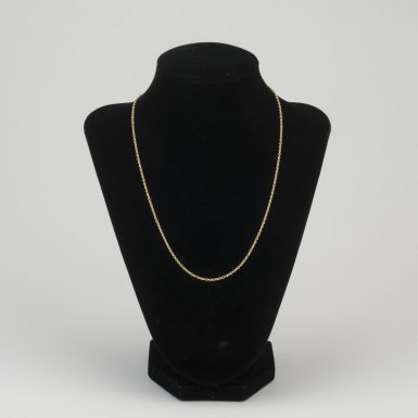 14K Tiffany Style 18 Inch Chain