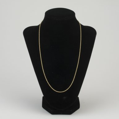 14K Tiffany Link 20 Inch Chain