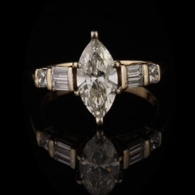 Pre-Owned 18K Marquise Diamond Ring