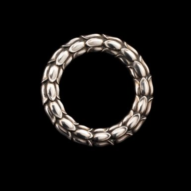 Vintage Sterling Silver Circle Pin By Designer Georg Jensen