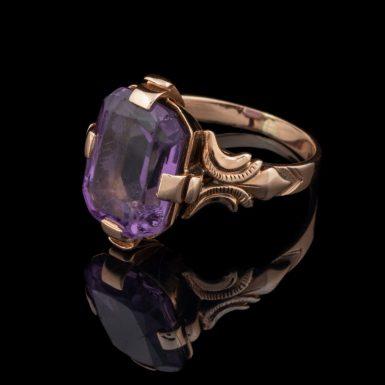 Victorian 14K Amethyst Ring