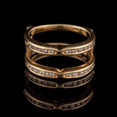 Pre-Owned 14K Diamond Insert Ring