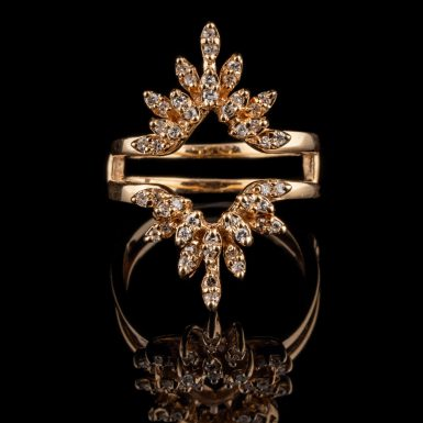 Pre-Owned 14K Marquis Shaped Diamond Insert Ring