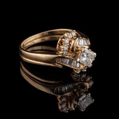 Pre-Owned 14K Diamond Wedding Set