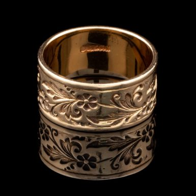 Vintage 14k Ornate Band by Ed Levin