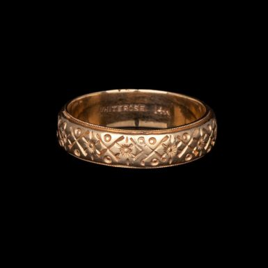 Pre-Owned Ornate 14K Band
