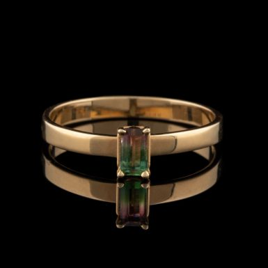 Watermelon Tourmaline 14K Ring