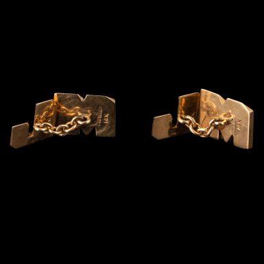 Vintage 14K Cartier Cuff Links