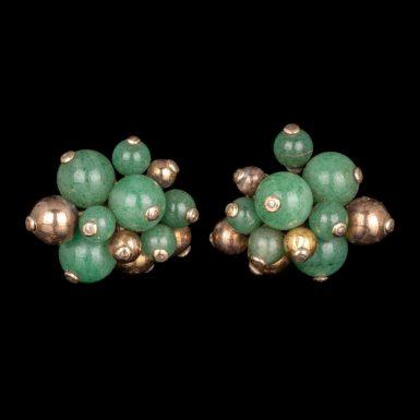 Vintage 14K Serpentine Clip Earrings by Designer Seaman Schepps