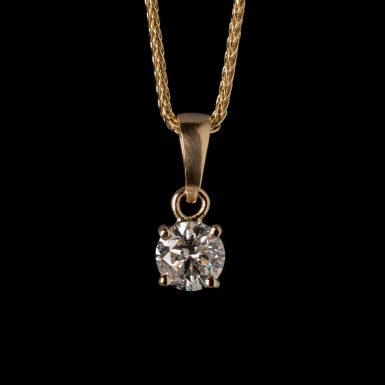 .74 Carat Diamond Solitaire Pendant in 14K